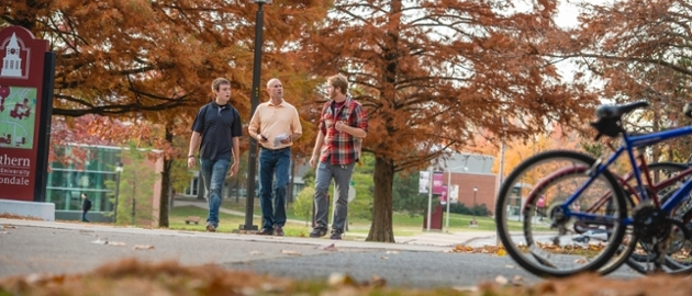 Men Walking on Campus